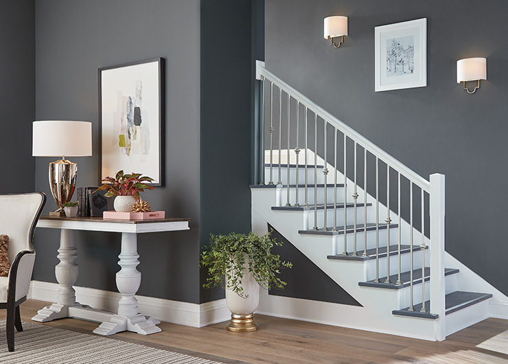 Satin Nickel Iron Stairway