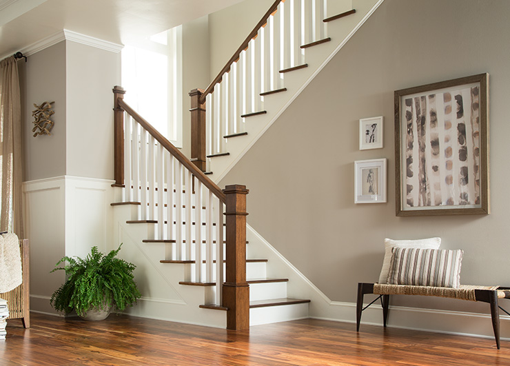 Colonial look stair parts