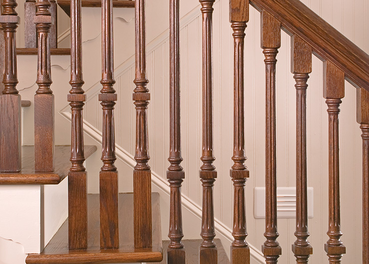 Classical wood stair parts